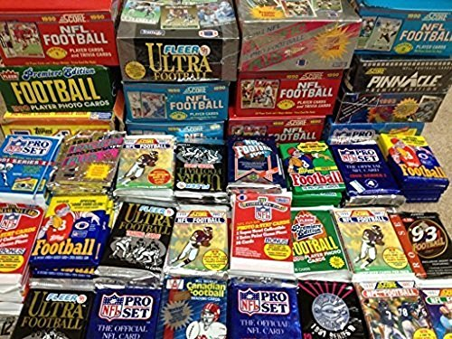 100 Vintage Football Cards in Old Sealed Wax ...