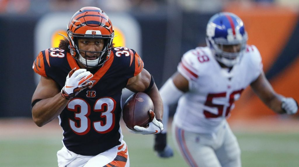 Bengals rookie Rodney Anderson out with a knee...