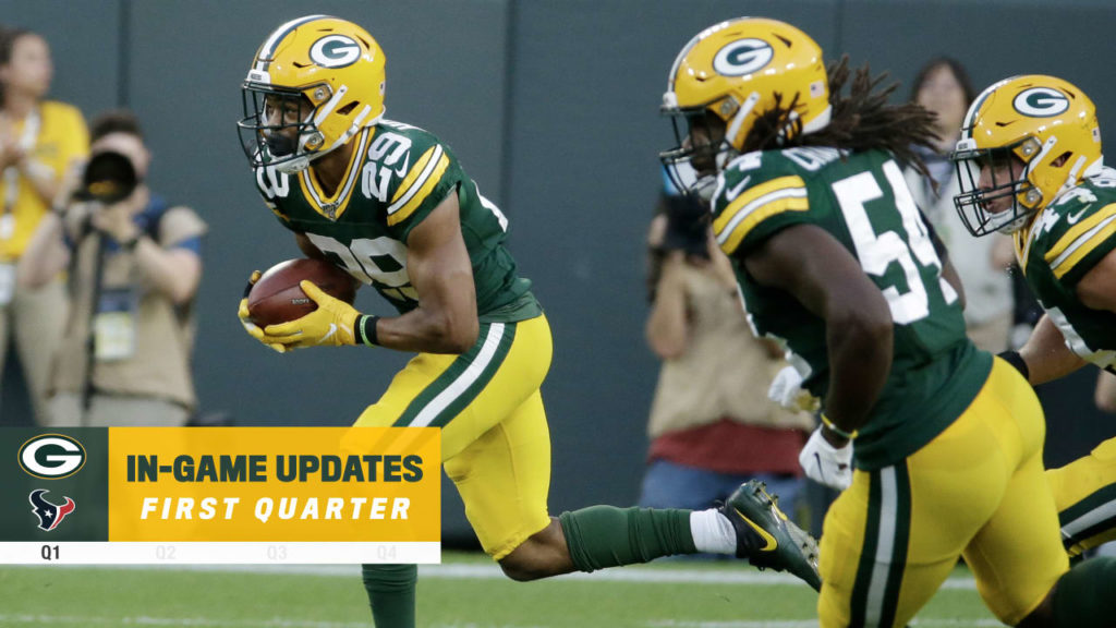 Packers lead Texans 7-0 after one quarter