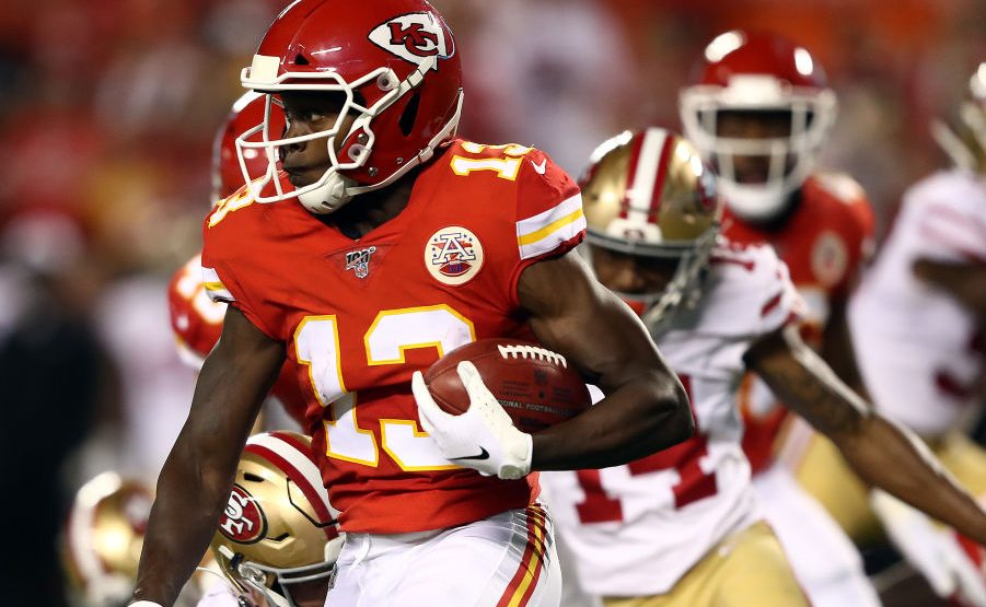Chiefs elevate Byron Pringle to the active roster,...