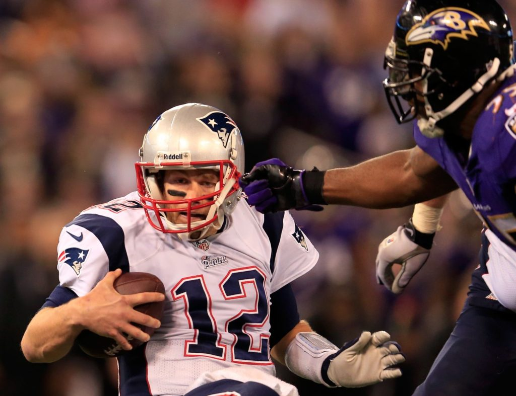 Why do the Ravens give Patriots fans the Halloween...