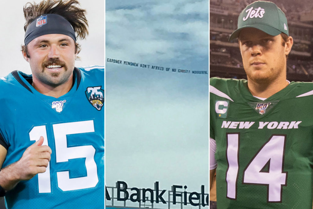 Jets QB Sam Darnold trolled with 'ghosts' banner...