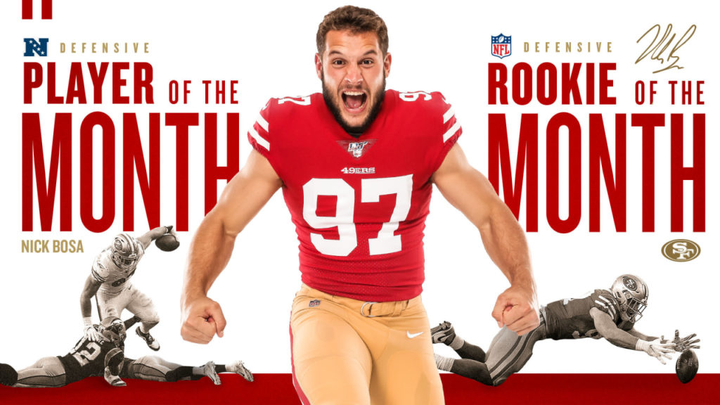 Nick Bosa Named NFC Defensive Player of the Month...