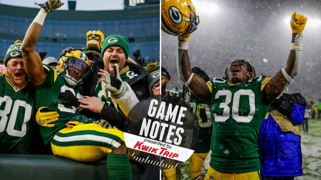 Packers get back to the ground game