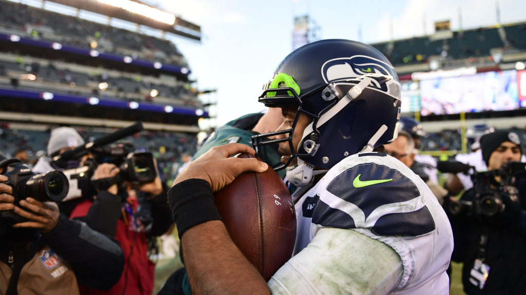 Seahawks QB Russell Wilson currently 3rd place in...