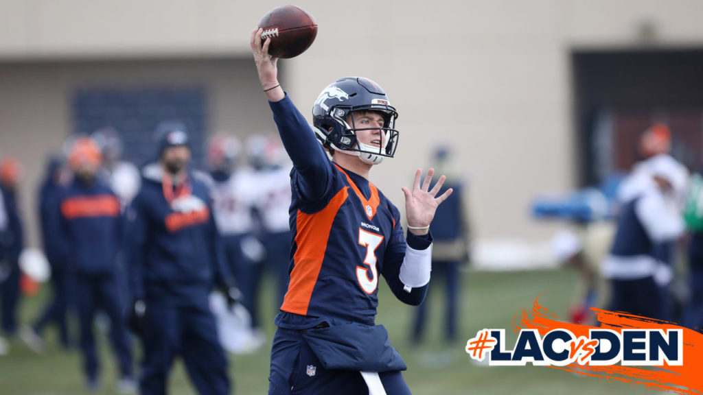 Drew Lock to be active vs. Chargers; Broncos yet...