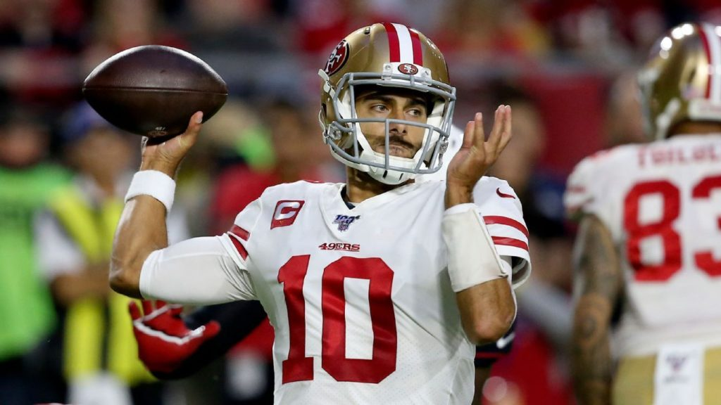 Jimmy Garoppolo's 4 touchdowns lift tested 49ers...