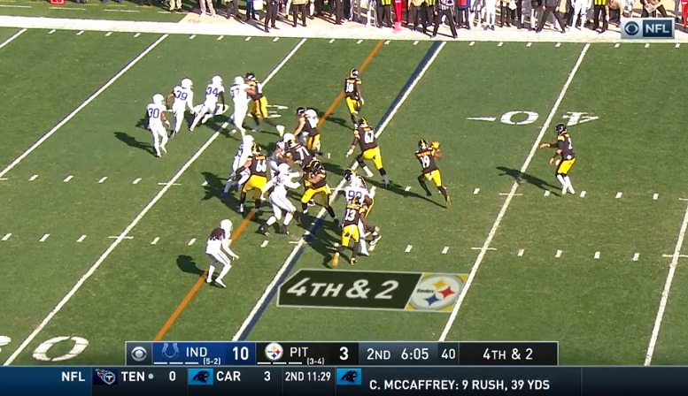 Rudolph shovel pass versus Colts