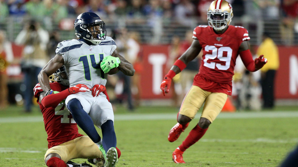 Seahawks receiver DK Metcalf leads the NFL in end...