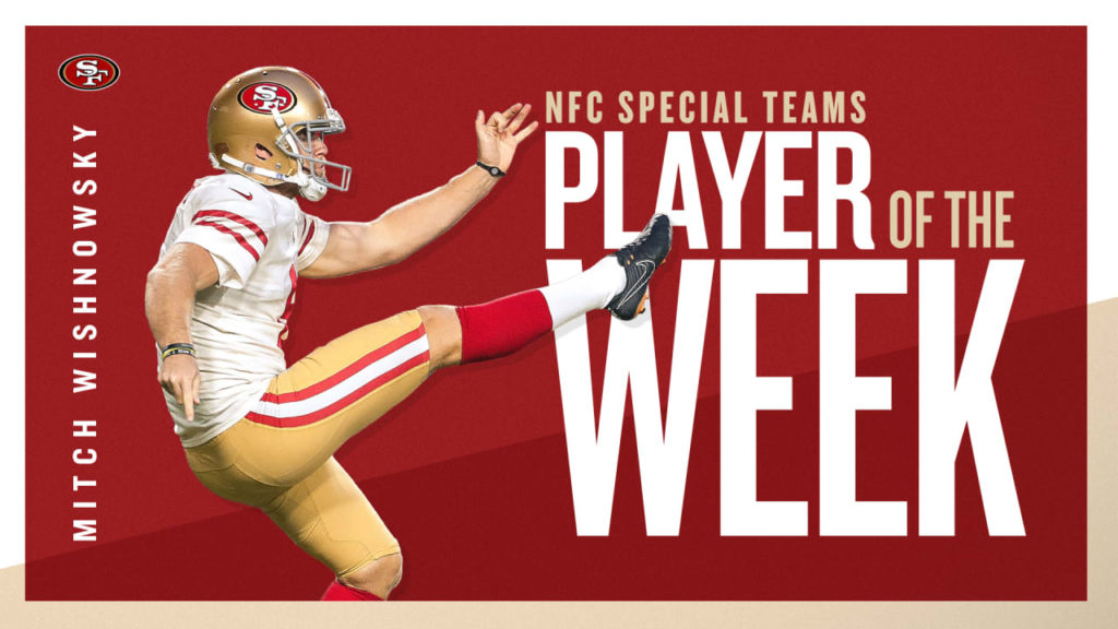 Mitch Wishnowsky Earns NFC Special Teams Player of...