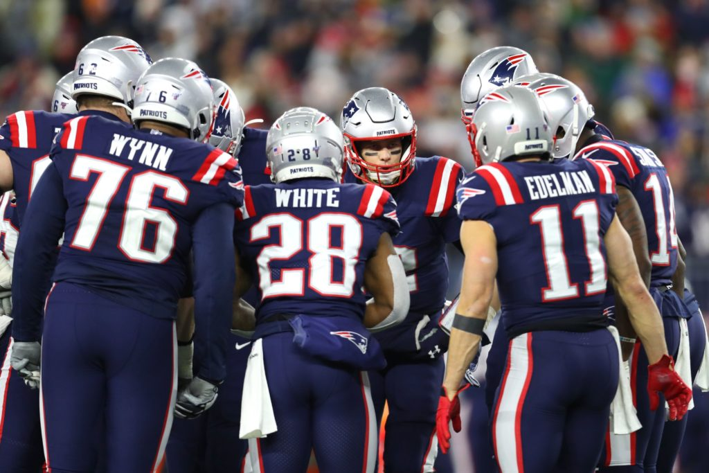 New England Patriots claim hats and t-shirts for...