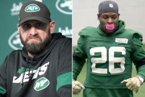 Jets' Adam Gase isn't thrilled with Le'Veon Bell's...