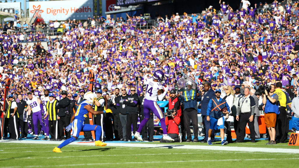 SKOL Support Overwhelms West Coast Game