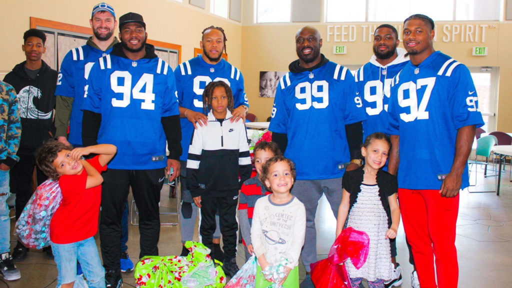 Colts Give Back With Presents And Presence In...