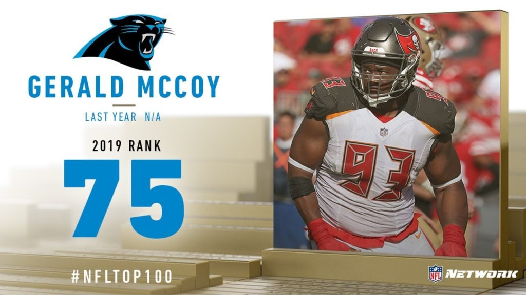 #75: Gerald McCoy (DT, Panthers) | Top 100...