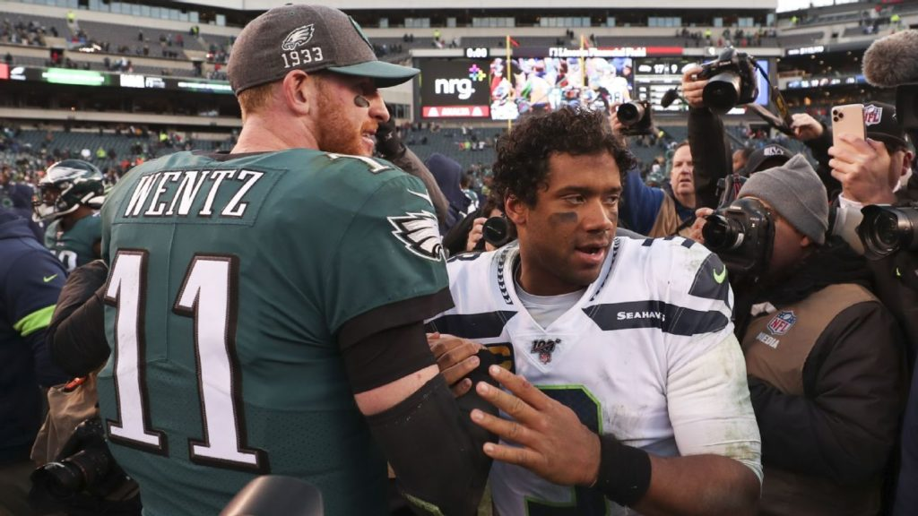 Seahawks at Eagles: Carson Wentz, Russell Wilson...