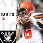 Browns vs. Raiders Week 4 Highlights | NFL...