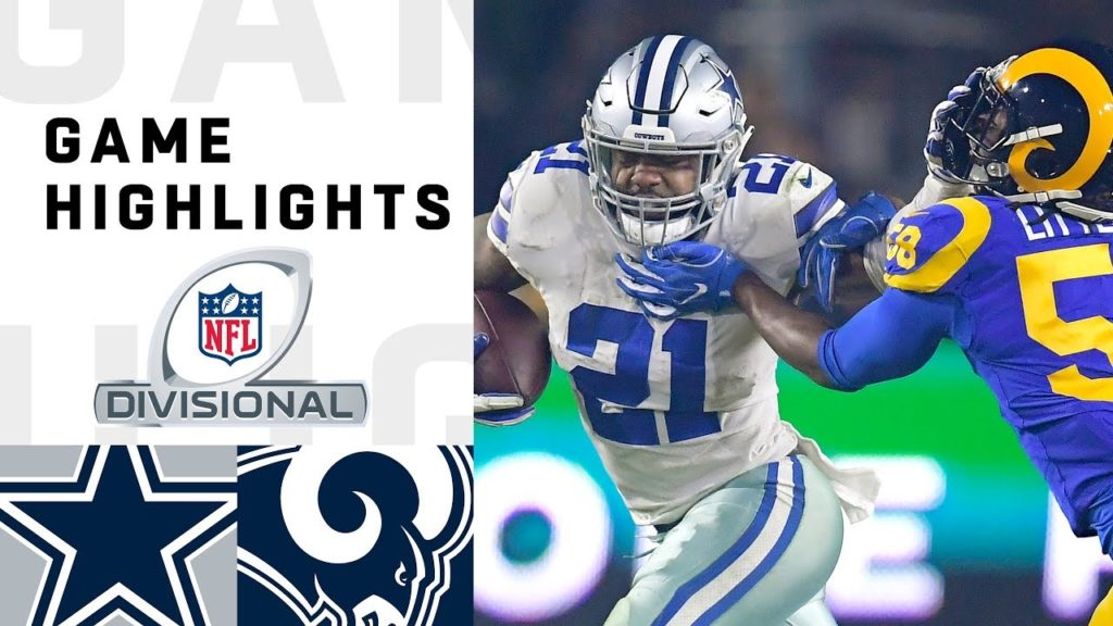 Cowboys vs. Rams Divisional Round Highlights |...