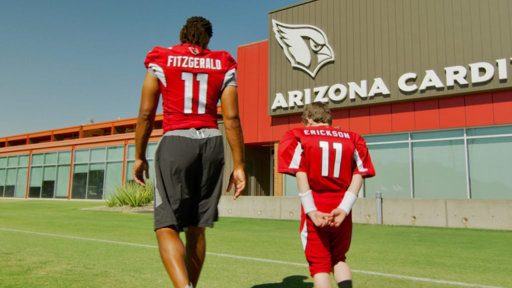 Larry Fitzgerald Surprises Boy On Final Day Of...