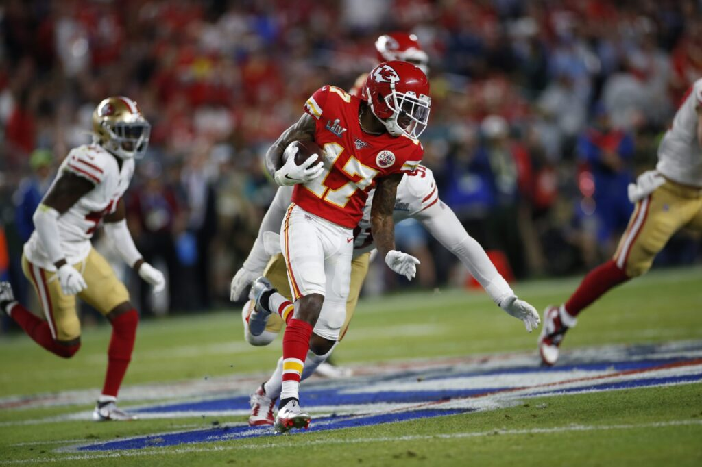 Chiefs wide receiver Mecole Hardman has another...