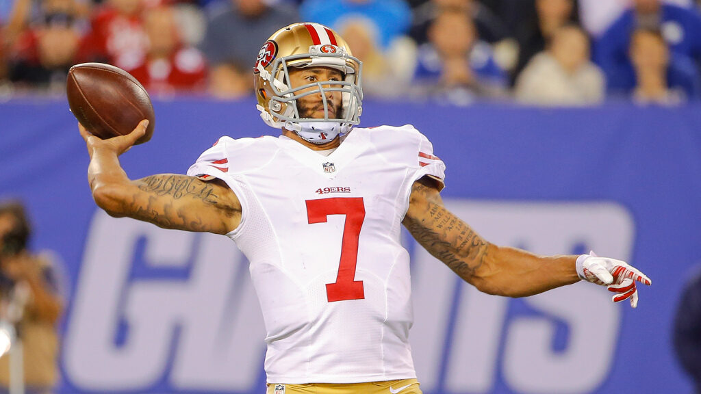 Michael Strahan believes Colin Kaepernick has been...