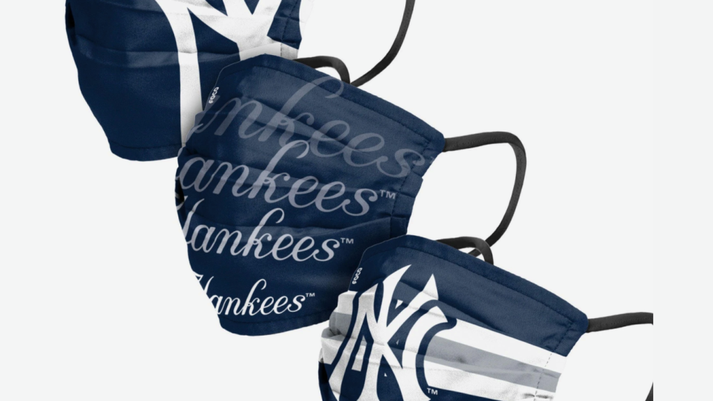 New York Yankees Matchday face masks are the...