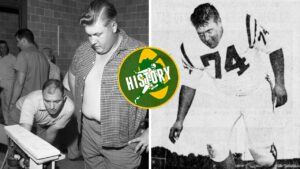 Vince Lombardi's explosion cut short a tryout