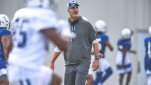 Colts head coach Frank Reich's goals for the start...