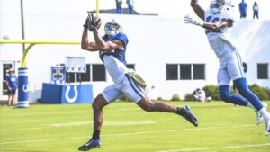 Hear from wide receivers Daurice Fountain and...
