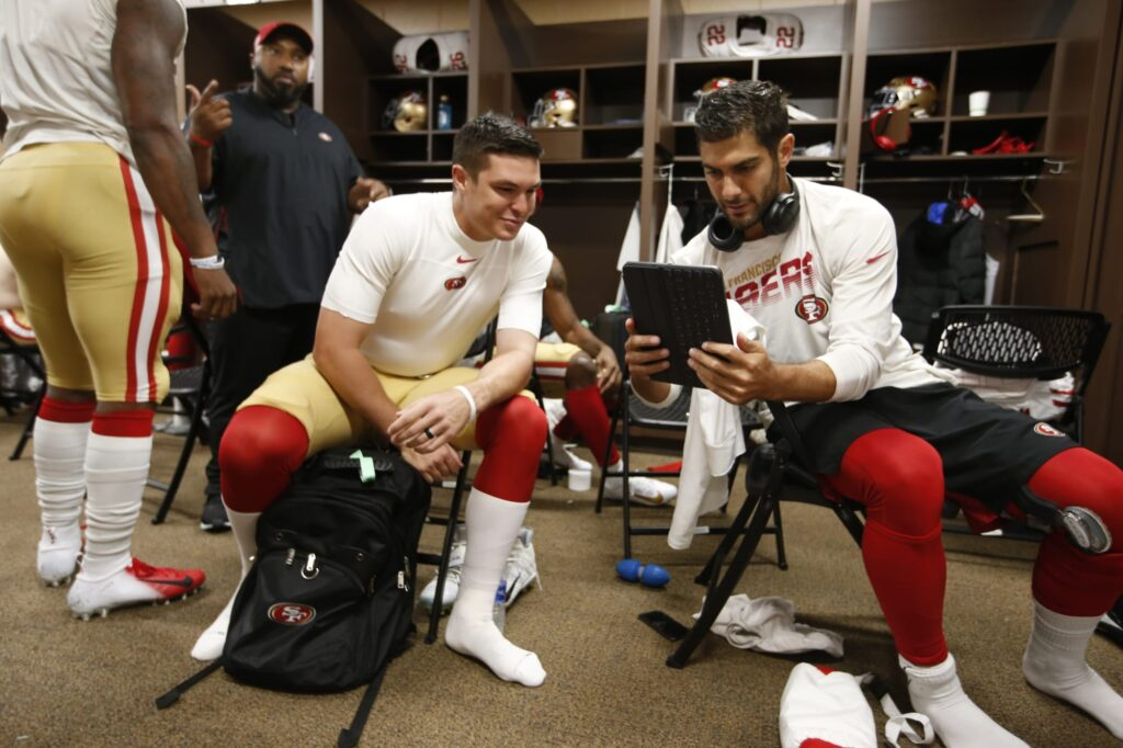 Who is Jimmy Garoppolo's backup for the 49ers?