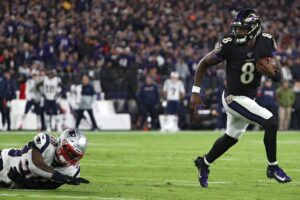 How much did Lamar Jackson influence New England...