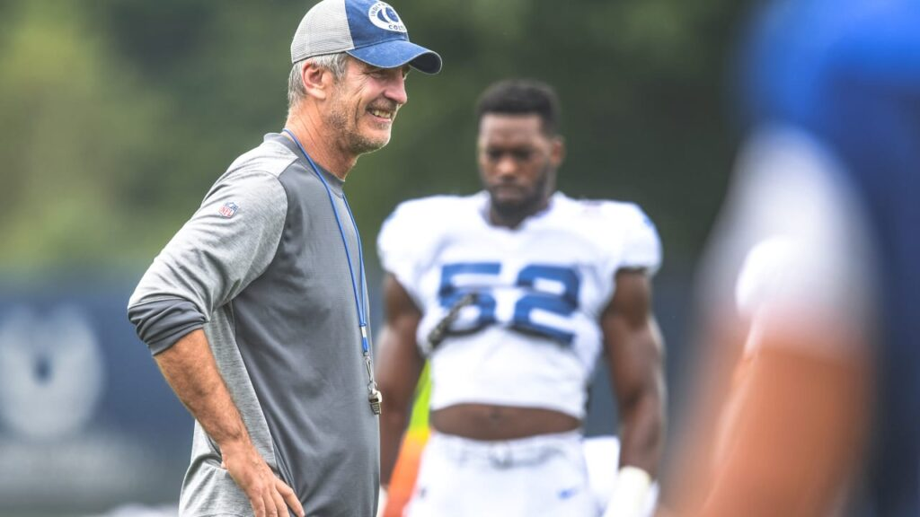 Colts head coach Frank Reich on the decision to...