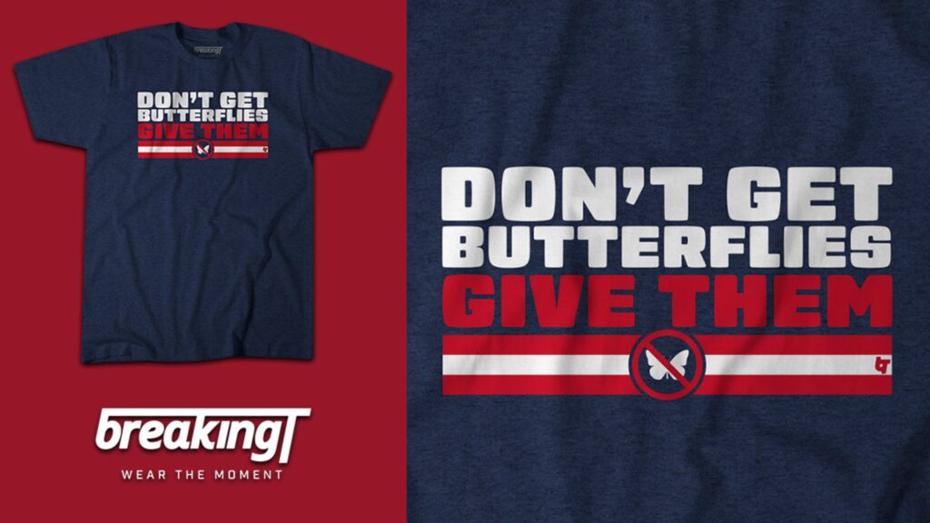 New England fans will be giving butterflies with...