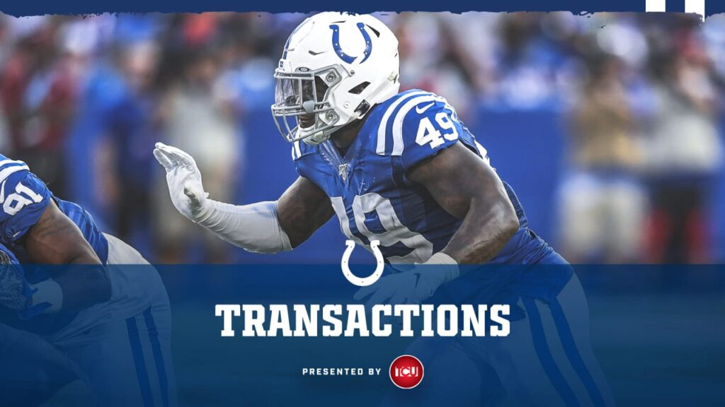 The Colts have placed LB Matthew Adams on injured...