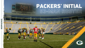 Here's the Packers' initial 53-man roster