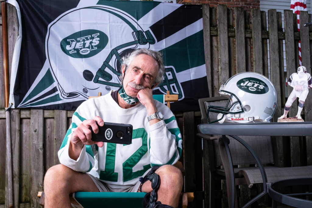 COVID-19 grounds Jets superfan for first time in...