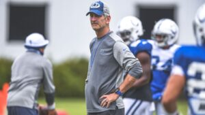 Colts head coach Frank Reich gives his final...
