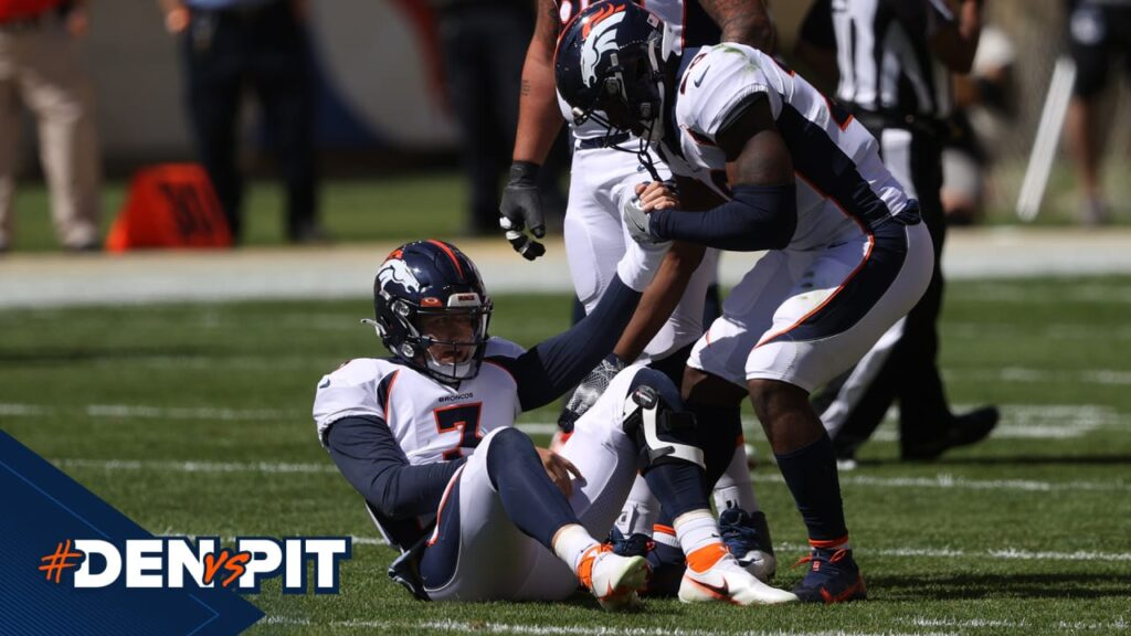 Drew Lock ruled out of #DENvsPIT with right...
