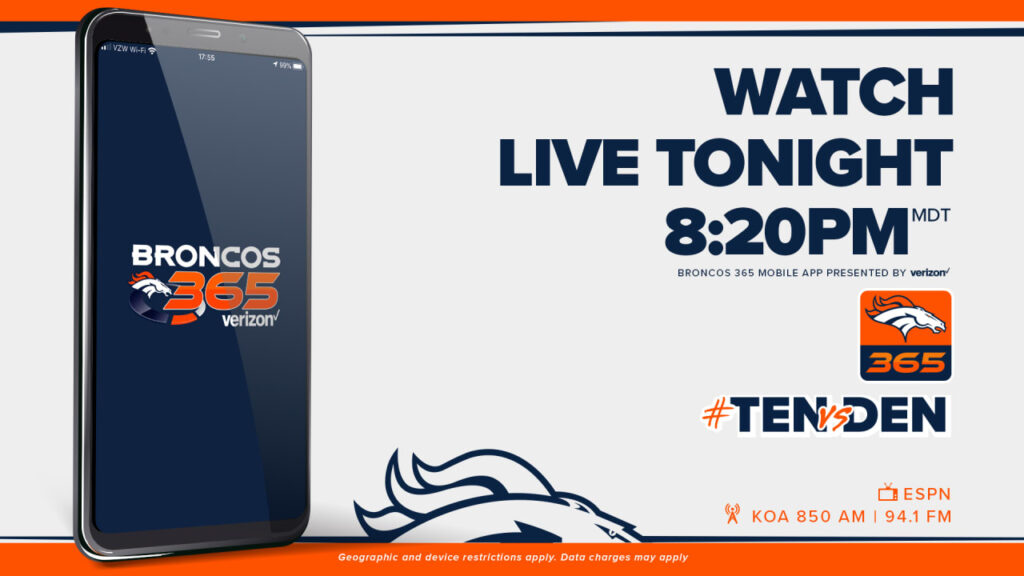 Denver Broncos vs. Tennessee Titans: How to watch,...