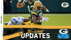 Packers pull ahead 17-14 at halftime