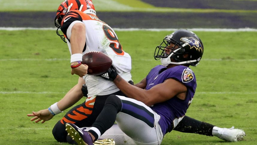 After taking seven sacks, Joe Burrow vows to get...