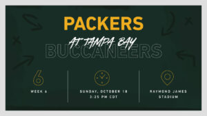Infographic: Packers-Buccaneers game preview