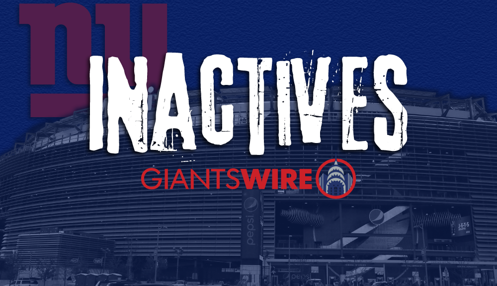 New York Giants vs. Washington Week 6 inactives:...