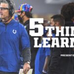 Five things learned from the Indianapolis Colts'...