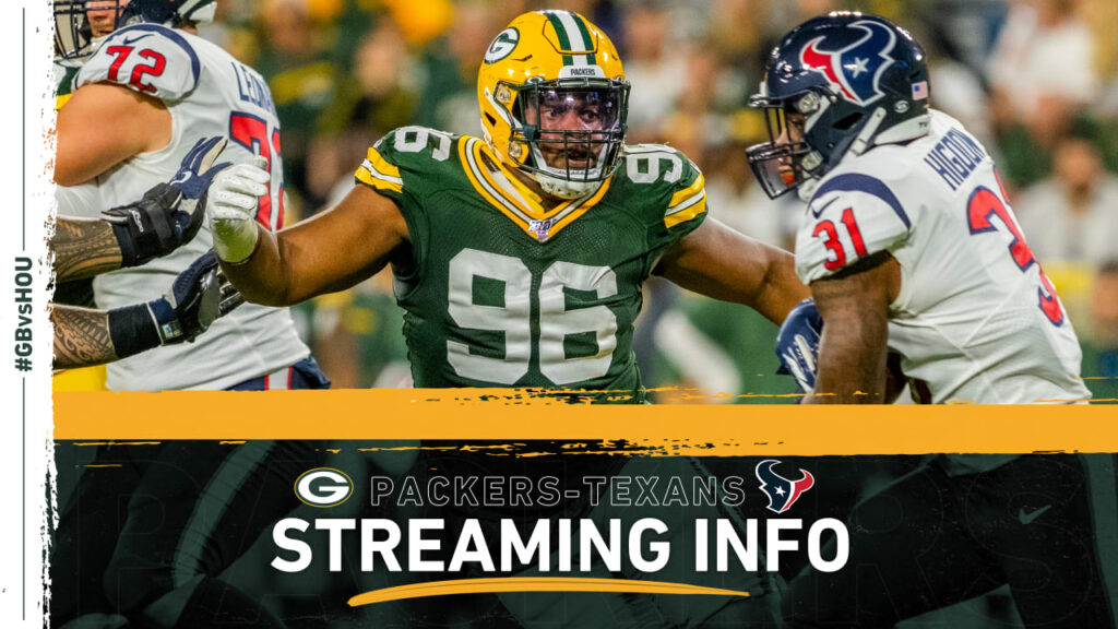 How to stream, watch Packers-Texans game on TV