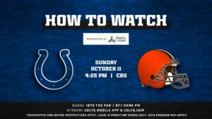 How to Watch Colts @ Browns