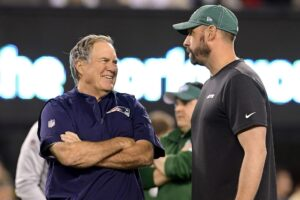 Bill Belichick's commentary about leaving Jets is...