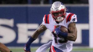 N'Keal Harry practicing for Patriots