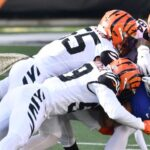 Bengals, Giants all tied up at halftime