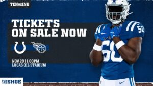 A limited number of single-game tickets for Colts...